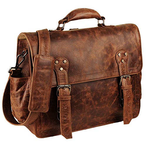 Handmade World | Leather Messenger Bags | 15'' Unisex Convertible Bag | Leather Backpack | Leather Briefcase | Leather Laptop Bag | Leather Satchel