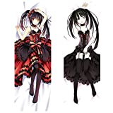 Raleighsee Date A Live Anime Tokisaki Kurumi Body Pillowcase Peach Skin 2WAY Double-Sided Different Printing Pillow Cover Hot Gift for Anime Fans 150 50 cm(2WAY)