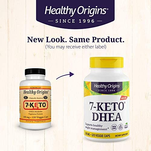 Healthy Origins 7-KETO Vegetarian Capsules, 100 mg, 120 Count 4
