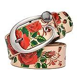 Meetloveyou flowers belt women wide belt big sizes chain strap Belt female Harness women women Belly band MN011B 110cm