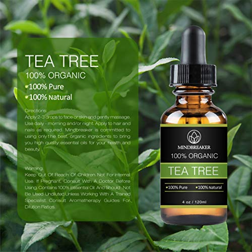 Olio essenziale dell'albero del tè – 100% puro e naturale grado terapeutico – Pacchetto regalo migliore per uomini e…