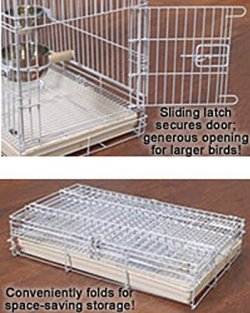 Two Size, Travel Collapsible Parrot Bird Carrier Cage