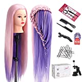 Mannequin Head with Hair, TopDirect 29' Hair Mannequin Manikin Head Hair Practice Cosmetology Hair Doll Head Styling Hairdressing Training Braiding Heads with Clamp Holder and Tools