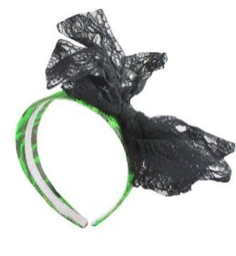 Forum-Novelties-Neon-Lace-Headband-with-Bow-Green