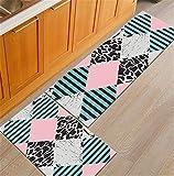 Nordic Geometric Creative Kitchen Mat Anti-Slip Bathroom Carpet Slip-Resistant Washable Entrance Door Mat Hallway Floor Area Rug Mat16 40x60cm