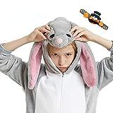 CASABACO Kid Bunny Rabbit Onesie Pajamas Costume Boy Girl Animal Halloween Christmas, Bunny, 130