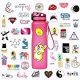 M.owstoni Stickers for Water Bottles | Big 46-Pack | Cute,Laptop,Aesthetic,Waterproof,Trendy Stickers for Teens,Girls | Perfect for Waterbottle,Phone,Travel | Extra Durable 100% Vinyl