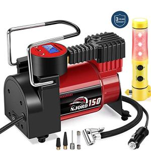 Smashier Portable Air Compressor Tire Inflator – 12V DC Digital Pump with Gauge for Car, Motorcycle, Ball, Air Matresses… 5133FL0l BL