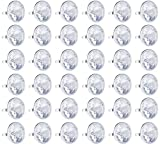 Blue Panda 36-Pack Bulk Jumbo Fake Diamond Rings for Kids Party Favors, Wedding, Bachelorette, & Bridal Decor
