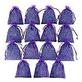 D'vine Dev 15 Purple French Dried Lavender Sachets Craft Bag - Lavender Sachets Wedding Toss, Home Fragrance Sachets Drawers Dressers - by Lavande Sur Terre