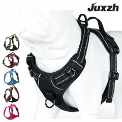 JUXZH-Truelove-Soft-Front-Dog-Harness-Best-Reflective-No-Pull-Harness-with-Handle-and-Two-Leash-Attachments