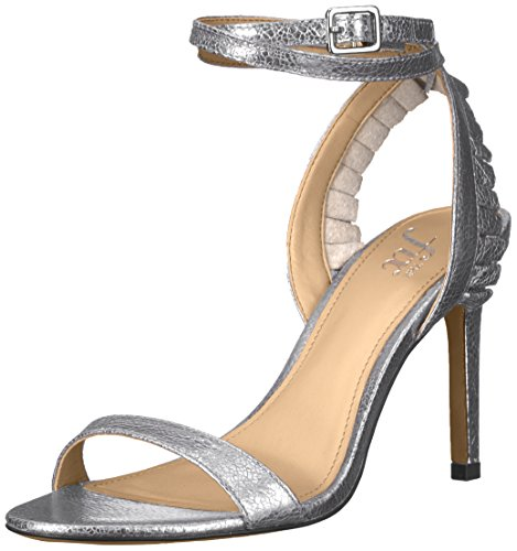 5139%2Bti3fIL This slender strap-stiletto sandal turns up the attitude with a double-wrapped ankle strap and girly ruffle trim Faux-leather lined footbed
