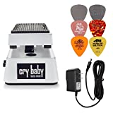 Dunlop CBM105Q Cry Baby Mini Bass Wah Pedal Bundle w/ 9V Power Supply and 6 Assorted Dunlop Picks