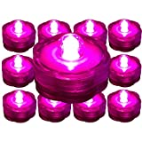 Bluedot Trading ~10 Pack~Hot Pink LED Submersible Battery Operated Tea Lights~Wedding, Party, Floral Arrangement, Centerpiece