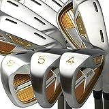 Japan Pron TRG 4-Sw Iron Matrix Stain Steel Chrome Golf Club Set,19 Model,Regular Flex,Graphite Shaft,Grip Mid,Pack of 8