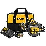DEWALT DCS575T2 FLEXVOLT 60V MAX Brushless Circular Saw with Brake and 2 Battery Kit, 7-1/4'