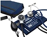 ADC Pro's Combo III Adult Pocket Aneroid/Clinician Scope Kit with Prosphyg 778 Blood Pressure Sphygmomanometer and Adscope 603 Stethoscope with Carrying Case, Navy