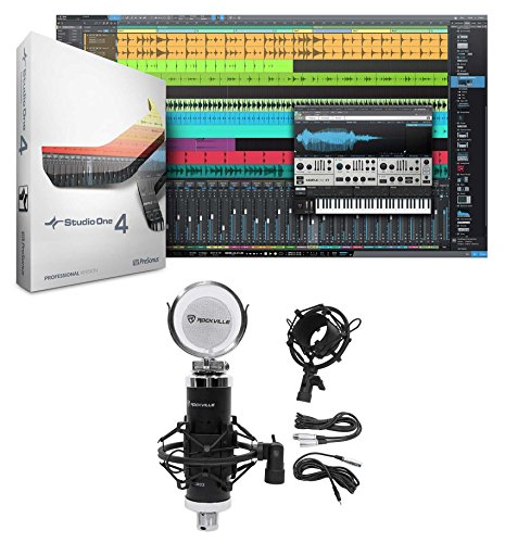Presonus Studio One 4 Pro Upgrade from Pro/Producer Version 1/2/3 to 4 + Mic