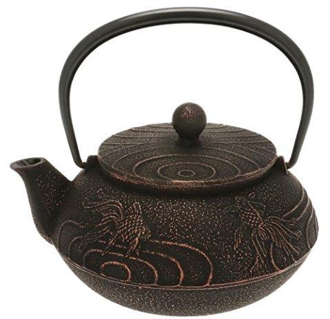 Iwachu 480-869 Japanese Iron Tetsubin Teapot, Black