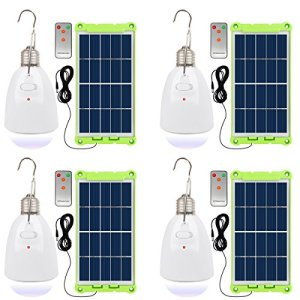 NINGZEXIN Solar Powered Light Bulb With Solar Panel Waterproof Rechargeable LED Lamp Lighting for Home , Camping, Emergency