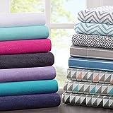 Intelligent Design ID20-705 Cotton Blend Jersey Knit Sheet Set Full Purple