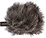 Movo WS-G1 Furry Outdoor Microphone Windscreen Muff for Small Compact Microphones up to 2.5' X 40mm (L x D) for the Zoom H1, Apogee MiC and More (Dark Gray)
