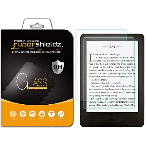 [2-Pack] Supershieldz for All-New Kindle (10th Generation - 2019) / Kindle E-Reader (8th Generation) and Kindle Paperwhite (7th Generation) Tempered Glass Screen Protector, Anti-Scratch, Bubble Free