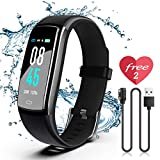 SIKADEER Fitness Tracker, Activity Tracker Watch with Blood Pressure Heart Rate Monitor, IP68 Waterproof Smart Watch with Step Counter,Calorie Counter, Sleep Monitor, Call & SMS for Android/iPhone