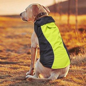 Ezer Waterproof Dog Coat, Soft Fleece Lining Reflective Pet Jacket for Cold Weather, Outdoor Sports Dog Vest Snowsuit Apparel, S- XXXL