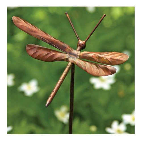 Ancient-Graffiti-Flamed-Copper-Dragonfly-Garden-Ornament