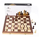 LifeChamp Chess Sets for Adults and Kids with 15' Inch Large Folding Wooden Game Board and Storage for the Handcrafted Wood Chess Pieces