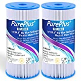 5 Micron 10' x 4.5' Whole House Big Blue Pleated Sediment Water Filter Replacement Cartridge Compatible with DuPont WFHDC3001, GE FXHSC, Culligan R50-BBSA, Pentek R50-BB, W50PEHD, GXWH40L, 2-Pack