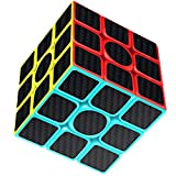 Rubix Cube Speed Cube 3x3x3, Rubiks Cube, Smooth Magic Carbon Fiber Sticker Rubix Speed Cubes