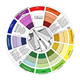 Baosity Multicolored Wheel Company Office Magic Palette Color Matching Guide Blending Chart 23.5x23.5x0.1 cm