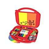 """Crayola 04-5674  Ultimate Art Case With Easel, 85 Pieces, Gift For Kids, Age 4, 5, 6, 7, 8, 12 1/4"""" x 15 3/4"""" x 2 1/4"""", Multi/None"""