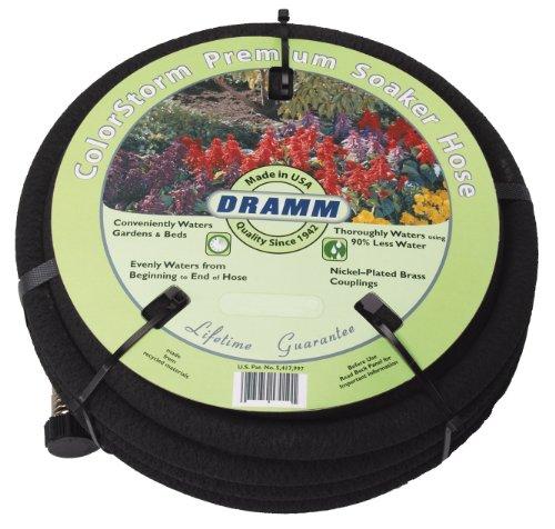 Dramm 17010 ColorStorm Premium 50 Foot Soaker Garden Hose, Black
