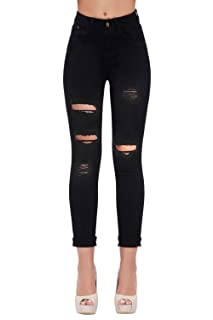 af5cf634451f8 #7 WOMEN'S HIGH WAIST BUTT LIFT STRETCH RIPPED SKINNY JEANS – BEST  POSTPARTUM JEANS WITH BUTT LIFT
