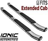 Ionic 5' Railway Chrome Running Boards 2011-2018 Chevy Silverado GMC Sierra Extended Cab (Diesel)