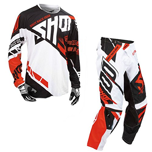 Shot Race Gear - Contact Raceway Red Jersey/Pant Combo - Size X-LARGE/36W
