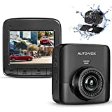 AUTO-VOX D5PRO Dual Lens Dash Cam 1520P Super Clear Dashboard Camera, Two Ways Installation Wide Angle Rear Camera Recorder with G-Sensor, Motion Detect and Loop Recording