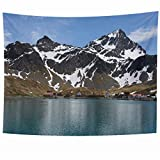Ahawoso Tapestry 80 x 60 Inches Arctic Port Antarctica Grytviken Old Whaling Station On Ocean South Ship Parks Antarctic Archipelago Home Decor Wall Hanging Tapestries for Living Room Bedroom Dorm