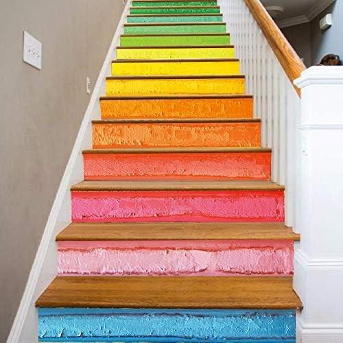 Amazon Com Flfk 3D Rainbow Art Oil Painting Self Adhesive Stairs | Sweet Home 3D Custom Stairs | Mural | Mezzanine | Interior Design | Mezzanine Floor | 3D Models