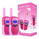 Selieve Toys for 3-12 Year Old Girls, Walkie Talkies for Kids 22 Channels 2 Way Radio Toy with Backlit LCD Flashlight, 3 Miles Range for Outside Adventures, Camping, Hiking