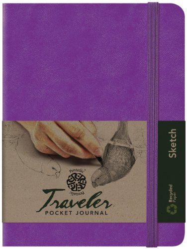 Pentalic Art Traveler Pocket Journal Sketch Book, 8