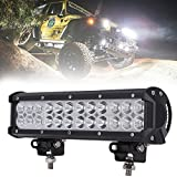 12' inch 72W Led Work Light Bar Spot Flood Combo Off road Lamp Lights Driving Lighting for Jeep off road Van Camper Wagon ATV AWD SUV 4WD 4x4 Pickup Van with Mounting Bracket