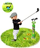Deluxe Kids, Toddler Toy Golf Clubs Set,3 Types of Clubs with Golf Cart and balls Perfect Mini Golf Set for Children, Sports Toys Game Kit for Boys & Girls, Best junior indoor, outdoor Educational Toy