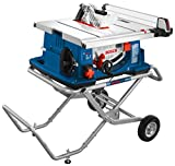Bosch Power Tools 4100-10 Tablesaw - 10 inch Jobsite Table Saw with 25 Inch Cutting Capacity and Portable Folding Stand