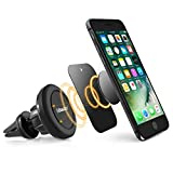 Swivel Magnetic Car Mount, BasAcc Air Vent Universal Cell Phone Holder for Apple iPhone X/8/8 Plus/7/Galaxy S7 Edge/S8/S8+/S9/S9+ Note 8 - Secure, 360° Adjustable Angle, No Adhesive Easy Installation