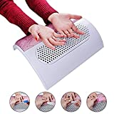 Biutee  3 Fans Powerful Nail Dust Suction Fan Collector Vacuum Cleaner Manicure Tools with 2 Dust Collecting Bags (pink-2)