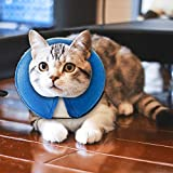 MorTime Protective Inflatable Collar Dogs Cats - Soft Pet Recovery Collar Does Not Block Vision E-Collar (X-Small)
